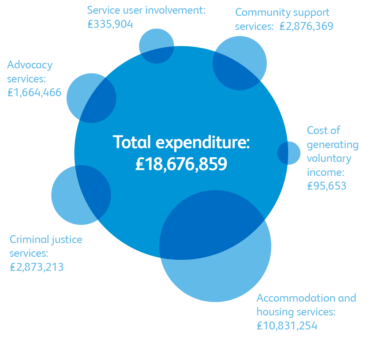 Infographic displaying expenditure details for Together