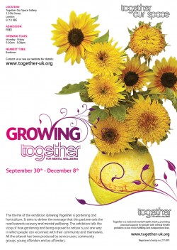 Together UK | Growing Together exhibition poster