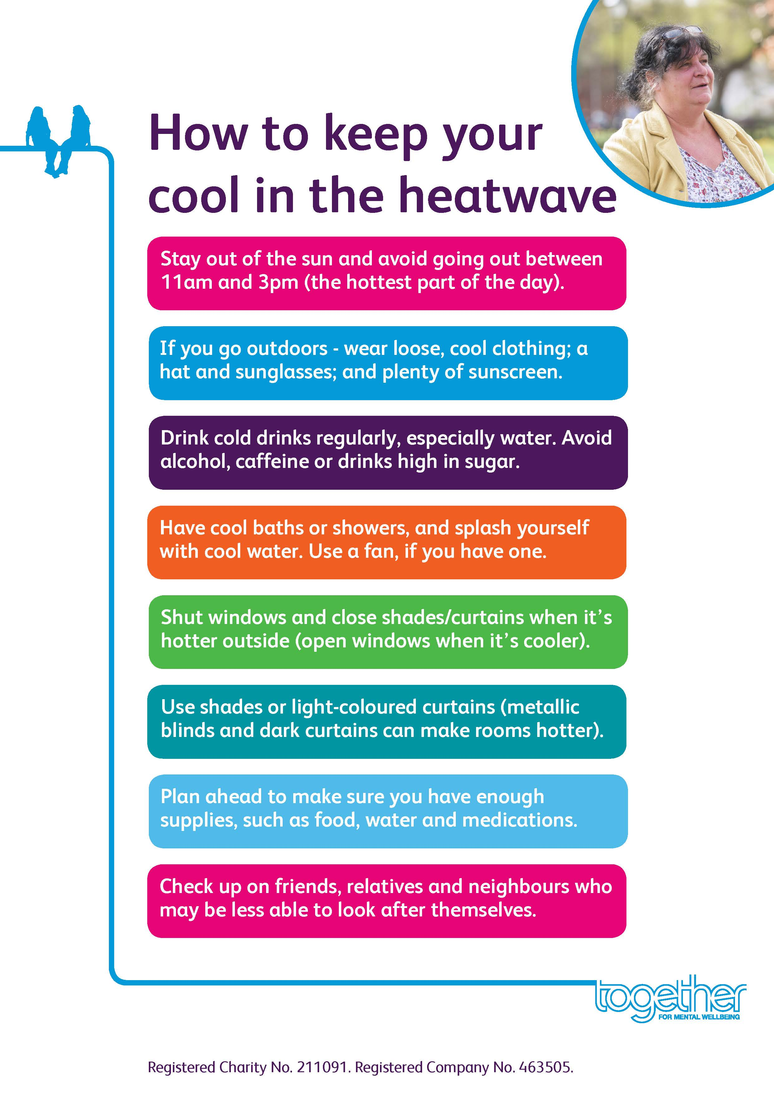 Together keeping cool in hot weather advice