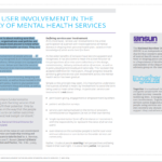 Service User Involvement in mental health services briefing